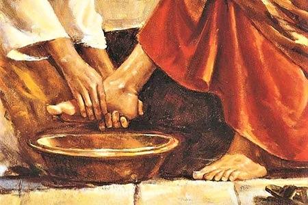Jezus umywa nogi - Polska Parafia w Londynie