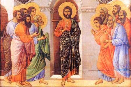 Zmartwychwstaly Jezus w Wieczerniku - 3 Niedziel Wielkanocna - Rok B